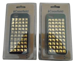 Casefield Two New iPhone 5 Gold Tone Studded Cellphone Hard Cases by Casefield