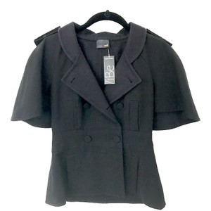 Fendi Cape Wool Cape Jacket BLACK Blazer