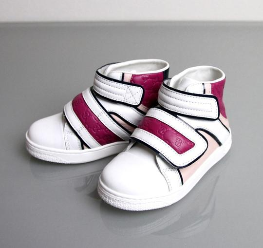 Preload https://item4.tradesy.com/images/gucci-whitepinkpurple-kids-leather-coda-pop-high-top-sneaker-g-24-us-8-301353-301354-shoes-19997498-0-0.jpg?width=440&height=440