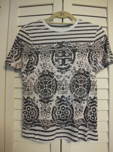 Tory Burch T Shirt Blue/White/tan