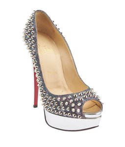 Christian Louboutin Lady Peep Multi/Print Pumps