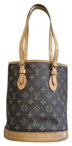 Louis Vuitton Monogram Petit Bucket Tote in Brown