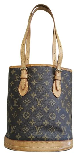 Preload https://item1.tradesy.com/images/louis-vuitton-bucket-petit-toteshoulder-brown-canvas-tote-19997565-0-3.jpg?width=440&height=440