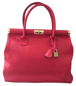 Florence Leather Market Satchel in Red