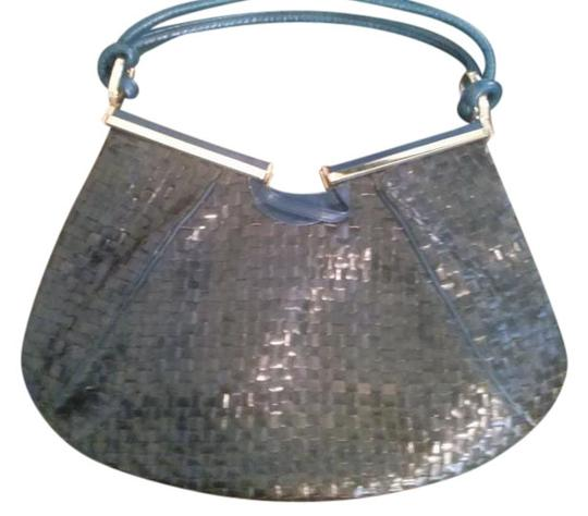 Preload https://item2.tradesy.com/images/made-in-spain-woven-vintage-black-blue-leather-shoulder-bag-19997636-0-1.jpg?width=440&height=440