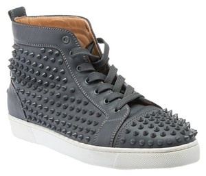 Christian Louboutin Louis Spike Sneakers Grey Athletic