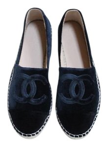 Chanel Espadrilles Size 36 Double dark navy blue Flats
