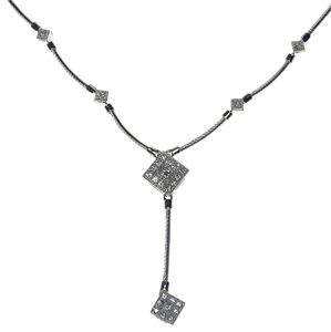 Charriol Philippe Charriol Diamond Drop Pendant 18k White Gold