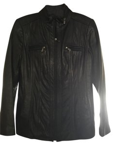 Jones New York Leather Black Jacket
