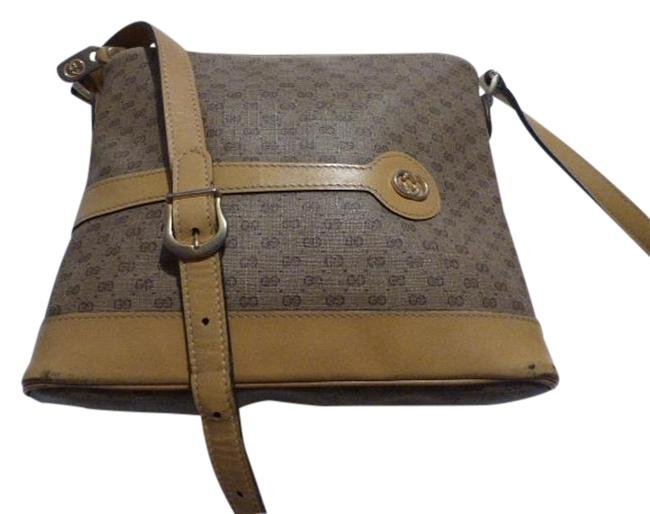 Item - Vintage Purses/Designer Purses Shades Of Brown Leather/Coated Canvas Cross Body Bag