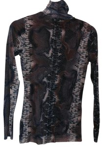 Weston Wear Top Purple/Brown Snakeskin Print