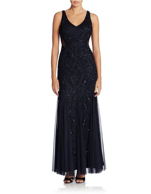 Adrianna Papell Beaded Gown Bridesmaid Open Dress