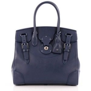 Ralph Lauren Collection Leather Tote in Blue