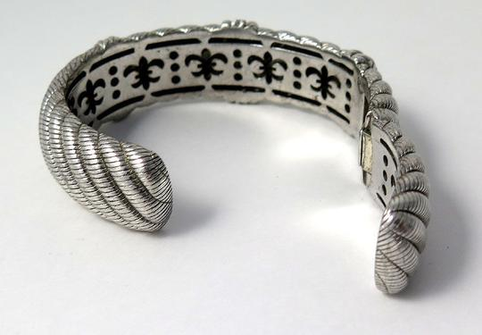 Judith Ripka Judith Ripka Sterling Hinged Cuff Bangle Bracelel 6.5