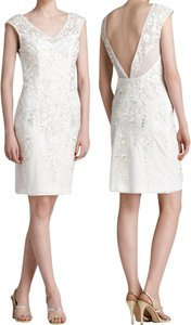 Sue Wong Embroidered Beaded Sheath Dress