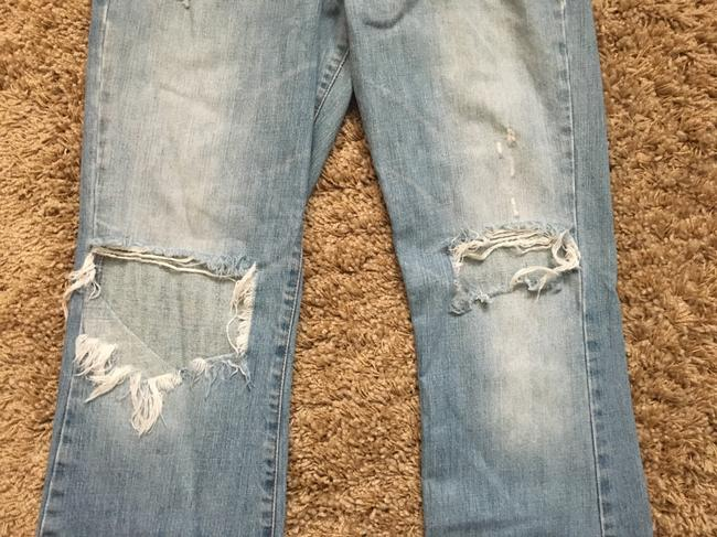 Abercrombie & Fitch Distressed Distressed Denim Distressed Boot Cut Jeans-Distressed