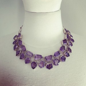 Himalayan Gems Purple Romance Genuine Amethyst Sterling Silver Handmade Necklace