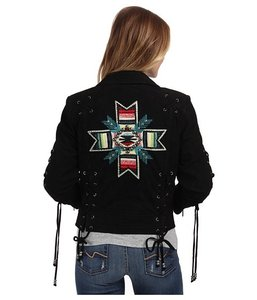 Double D Ranchwear black Leather Jacket