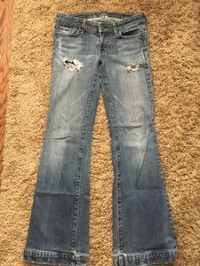 Citizens of Humanity Distressed Denim Distressed Trouser/Wide Leg Jeans
