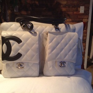 Chanel Satchel in White/Black