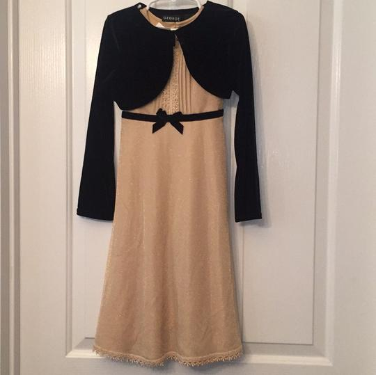 Preload https://item5.tradesy.com/images/george-gold-black-stunning-girl-s-special-occassion-dress-w-jacket-and-purse-19998344-0-0.jpg?width=440&height=440