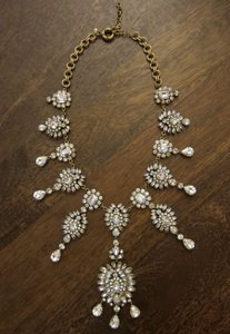 J.Crew Grande crystal drops statement necklace