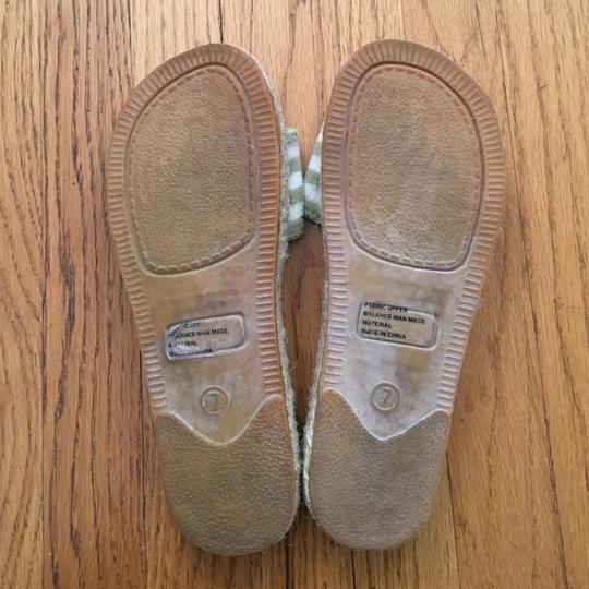 Juicy Couture Striped Green & White Sandals