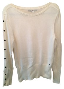 Tommy Hilfiger Boatneck Knit Sweater Top Cream