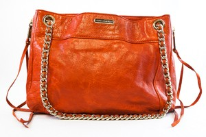 Rebecca Minkoff Red Leather Chain Shoulder Bag