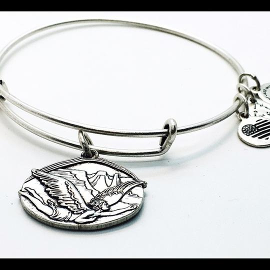 Alex and Ani Alex&Ani Guardian of Freedom silver finish bangle