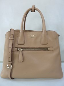 Prada Saffiano Leather Cuir Tote in Tan Beige