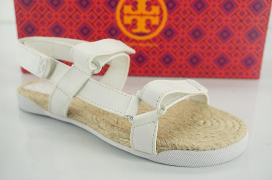 Preload https://item5.tradesy.com/images/tory-burch-white-leather-strappy-bumper-flat-espadrille-sandals-size-us-55-regular-m-b-19998544-0-0.jpg?width=440&height=440