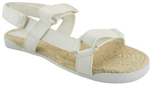 Tory Burch 6102004 Hook And Loop Flat White Sandals