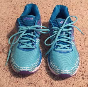 Asics Sneaker Laces Running Turquoise Athletic