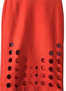ASOS Fitted Cut-out Skirt RED