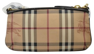 Burberry Wrislet Haymarket Wrislet Chocolate Clutch
