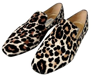 Jimmy Choo Jimmi Wheel Stone animal print Flats