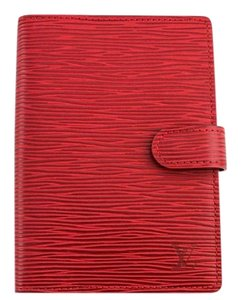 Louis Vuitton #5993 Red epi leather monogram 6 Ring agenda pm