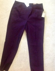 Chico's Slim Leg Petite Trouser Pants Burgundy Bliss