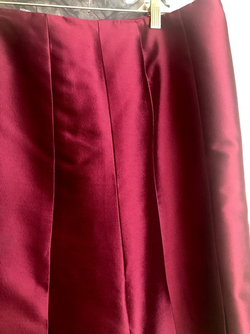 Katerina Bocci Designs A-line Tailored Size 10 Skirt Burgandy