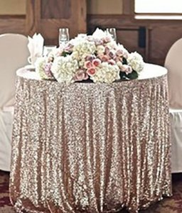 Champagne Gold Sequin Table Cloth