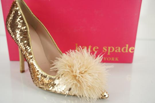 Preload https://img-static.tradesy.com/item/19998809/kate-spade-gold-sequin-lexa-too-feather-pom-pon-ball-pointy-pumps-size-us-55-regular-m-b-0-0-540-540.jpg