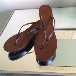Ralph Lauren Wedge Thong Navy Sandals