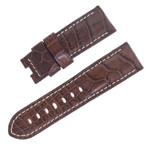 Panerai Panerai 24 - 22 mm Brown Alligator Leather Men's Watch Band (14675)