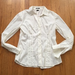 Theory Button Down Shirt White