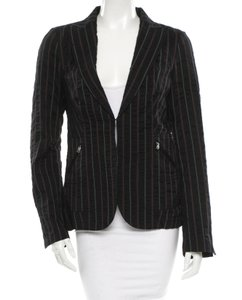 CoSTUME NATIONAL Red Pinstripe Size 8 / 44 It / Sale Black Jacket