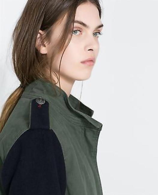 Zara Military Straight Cut Wool Coat