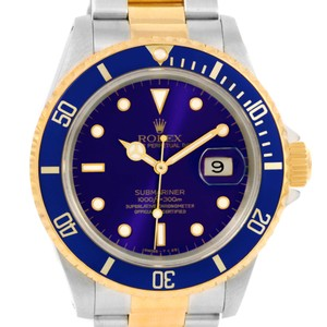 Rolex Rolex Submariner Steel 18K Yellow Gold Blue Dial Watch 16613 Box