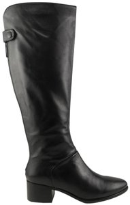 Pour La Victoire Silvianne Leather Knee High Zip Black Boots