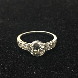 Gia Cert 1.22 Carat Diamond Platinum Engagement Ring